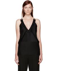 schwarzes Trägershirt mit Falten von Givenchy