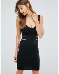 Schwarzes Figurbetontes Kleid mit Ausschnitten von Oh My Love