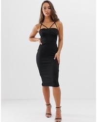 schwarzes figurbetontes Kleid von ASOS DESIGN