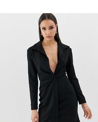 schwarzes figurbetontes Kleid von Asos Tall