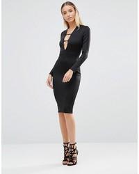 Schwarzes Figurbetontes Kleid von AX Paris