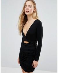 Schwarzes Figurbetontes Kleid von Daisy Street