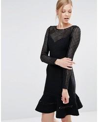 Schwarzes Figurbetontes Kleid von Forever Unique