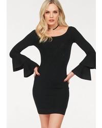 schwarzes figurbetontes Kleid von Hailys