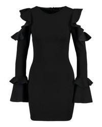 schwarzes figurbetontes Kleid von Missguided