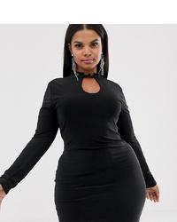 schwarzes figurbetontes Kleid von New Girl Order Curve