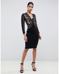 schwarzes figurbetontes Kleid von Rare