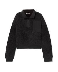 schwarzes Fleece-Sweatshirt