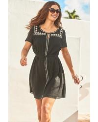 schwarzes Folklore Kleid von NEXT