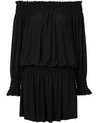 schwarzes Folklore Kleid von Norma Kamali