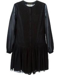 schwarzes Folklore Kleid von Saint Laurent