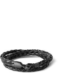schwarzes geflochtenes Armband von Miansai