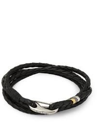 schwarzes geflochtenes Armband von Paul Smith