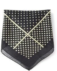 schwarzes gepunktetes Einstecktuch von Saint Laurent