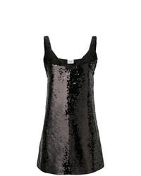 schwarzes gerade geschnittenes Kleid aus Pailletten von Dondup