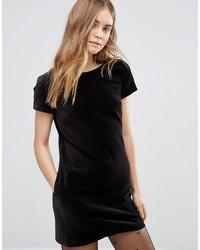Schwarzes Gerade Geschnittenes Kleid aus Samt von Jack Wills
