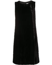 schwarzes gerade geschnittenes Kleid aus Samt von M Missoni