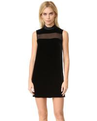 Schwarzes Gerade Geschnittenes Kleid aus Samt von Rag & Bone
