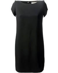 schwarzes gerade geschnittenes Kleid