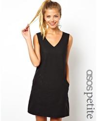 schwarzes gerade geschnittenes Kleid von Asos Petite
