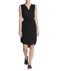schwarzes gerade geschnittenes Kleid von Eddie Bauer