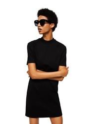 schwarzes gerade geschnittenes Kleid von Mango