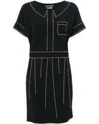 schwarzes gerade geschnittenes Kleid von Moschino