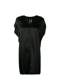 schwarzes gerade geschnittenes Kleid von Rick Owens