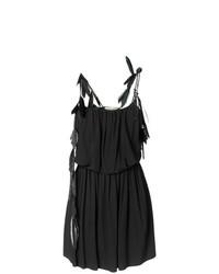 schwarzes gerade geschnittenes Kleid von Saint Laurent