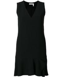 schwarzes gerade geschnittenes Kleid von See by Chloe