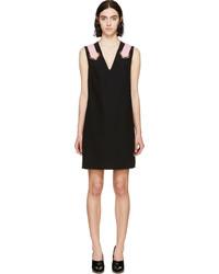 schwarzes gerade geschnittenes Kleid von Versace