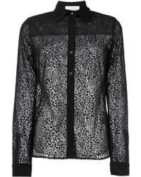 schwarzes Hemd mit Leopardenmuster von See by Chloe