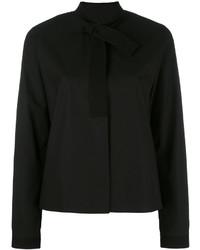 schwarzes Hemd von MM6 MAISON MARGIELA