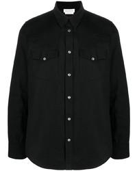 schwarzes Jeanshemd von Alexander McQueen