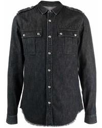 schwarzes Jeanshemd von Balmain