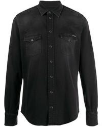 schwarzes Jeanshemd von Dolce & Gabbana