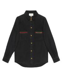 schwarzes Jeanshemd von Gucci