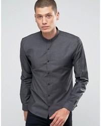 schwarzes Jeanshemd von Hugo Boss
