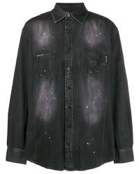 schwarzes Jeanshemd von Philipp Plein
