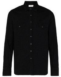 schwarzes Jeanshemd von Saint Laurent