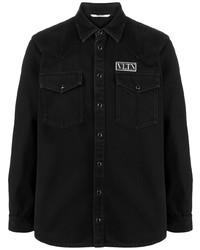 schwarzes Jeanshemd von Valentino