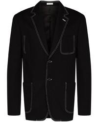 schwarzes Jeanssakko von Alexander McQueen