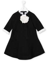 schwarzes Kleid mit Blumenmuster von Simonetta