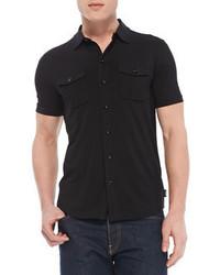 Schwarzes kurzarmhemd original 365976