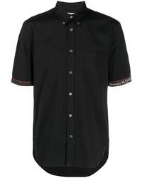 schwarzes Kurzarmhemd von Alexander McQueen