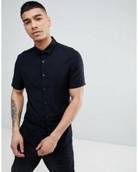 schwarzes Kurzarmhemd von ASOS DESIGN