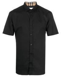 schwarzes Kurzarmhemd von Burberry