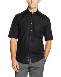 schwarzes Kurzarmhemd von Casamoda