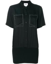 schwarzes Kurzarmhemd von DKNY