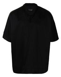 schwarzes Kurzarmhemd von Emporio Armani
